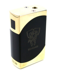 Dos-Equis-Style-Box-Mod-Unregulated-Dual-18650-BrassBlack-USA-PRE-ORDER-191571200310